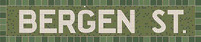 A digitization of a subway mosaic via the NY Train Project