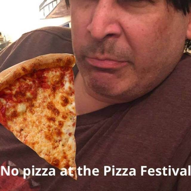 The profile photo for one Pizza Festival Scam Victims' Facebook group