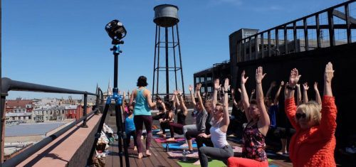 Rooftop Yoga by Hosh at the Greenpointers Spring Market 2017