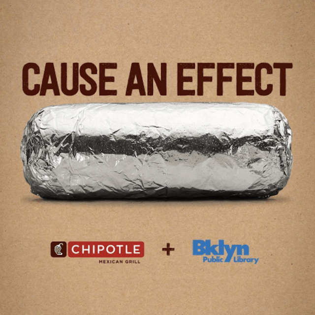 Eat Chipotle in the name of the Brooklyn Public Library next Wednesday