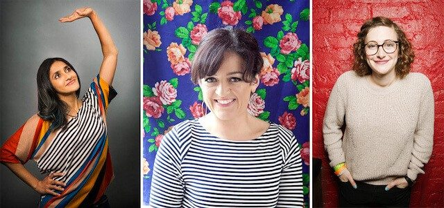 Aparna Nancheria, Jo Firestone and Maeve Higgins who together compose Butterboy