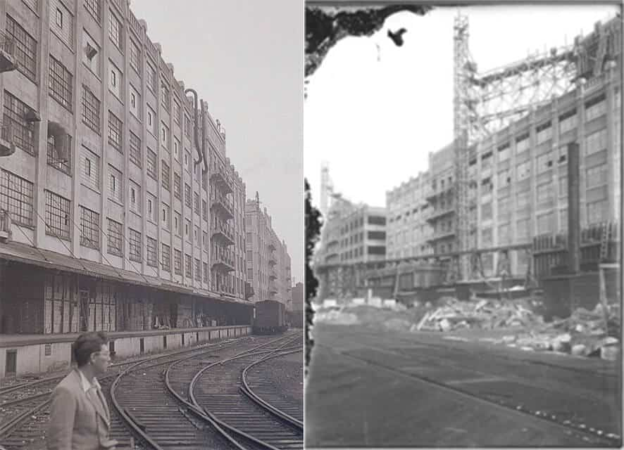Historic photos of the both Dock buildings from a presentation.