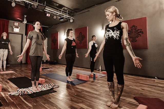 Heavy metal yoga in a Bushwick bar saved my soul