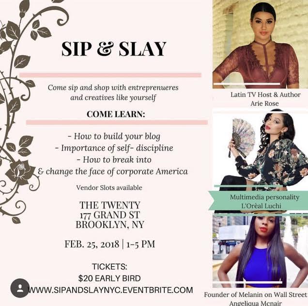 Sip & Slay NYC at The Twenty