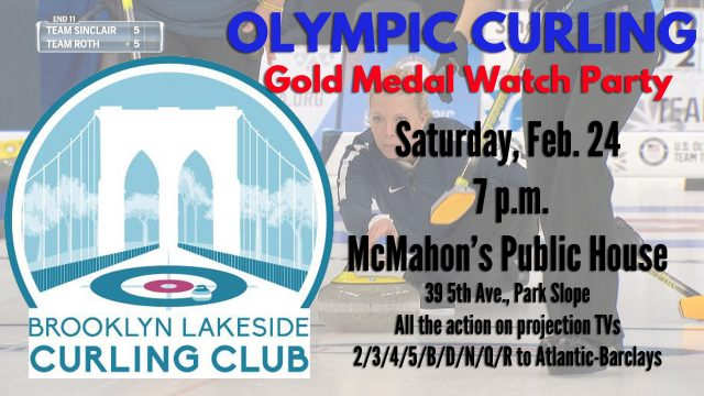 Olympic Curling Gold Medal Watch Party with the Brooklyn Lakeside Curling Club