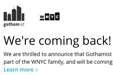 Gothamist lives: Public radio stations resurrect murdered news site
