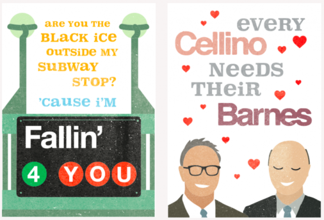 Are these the most New York Valentine's Day cards ever made?