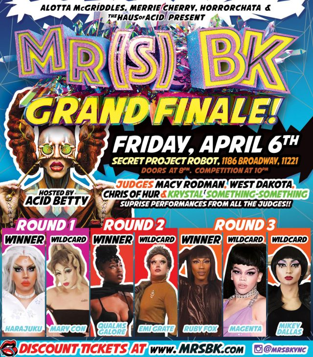 Mr(s) BK drag revue hosts epic grand finale April 6