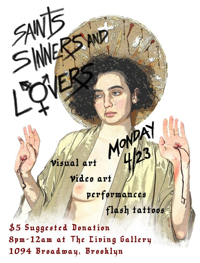 Saints, Sinners and Lovers – Art Show at The Living Gallery