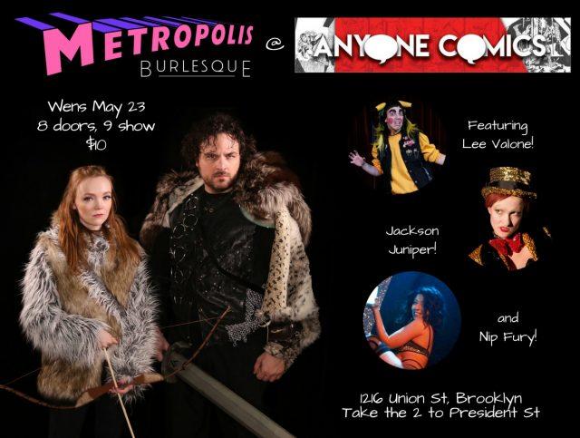 Metropolis Burlesque @ Anyone Comics