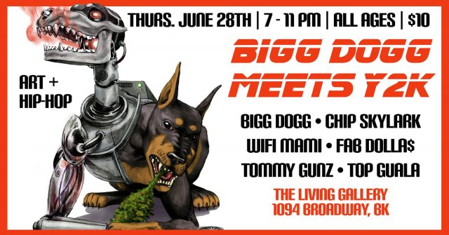Bigg Dogg, Chip Skylark and more/ Art and Hip Hop at the Living Gallery