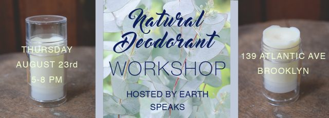 Natural Deodorant Workshop
