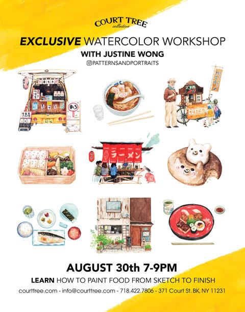 Exclusive food watercolour workshop held byJustine Wong
