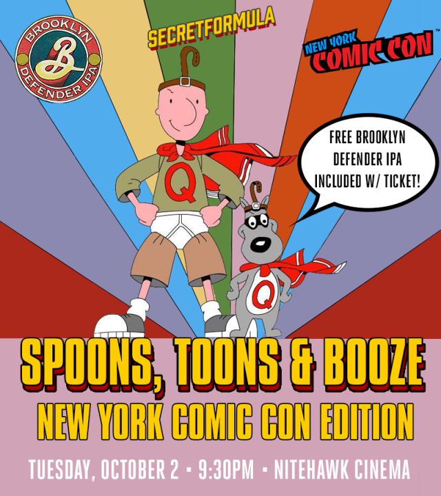 Spoons, Toons & Booze New York Comic Con Edition