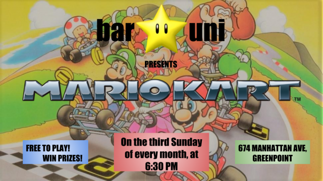 Mario Kart Night at Bar Uni!