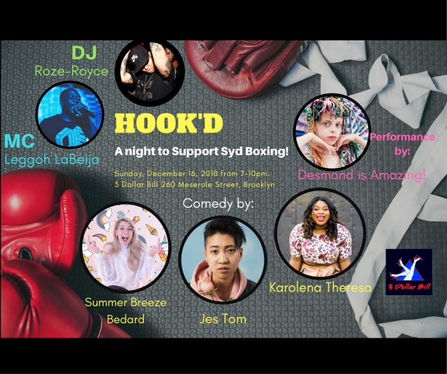Hook'd: A Night of Comedy to Support Syd Boxing!