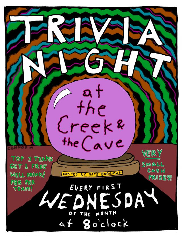 Trivia Night at The Creek and The Cave