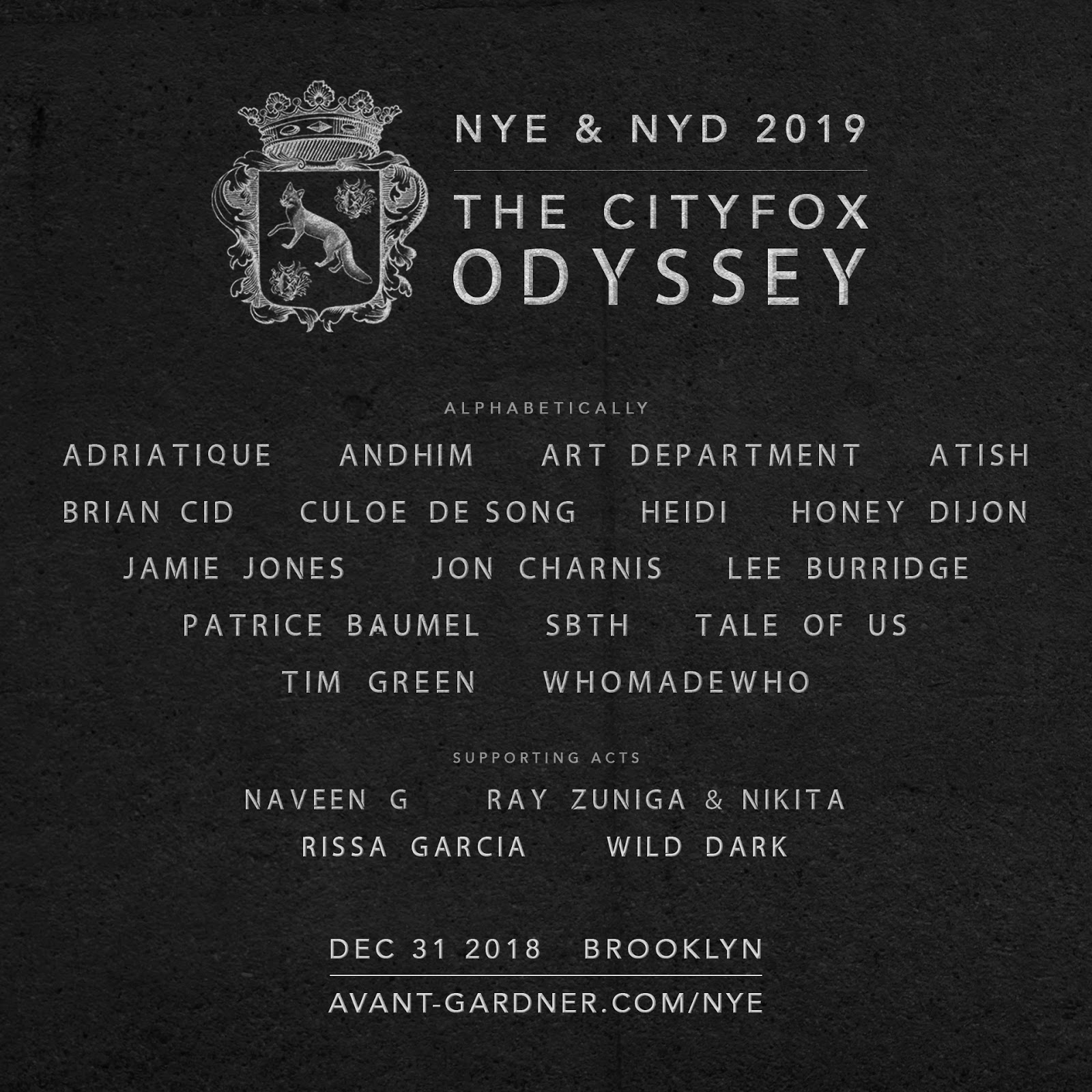 The Cityfox Odyssey New Year's Eve And New Year's Day