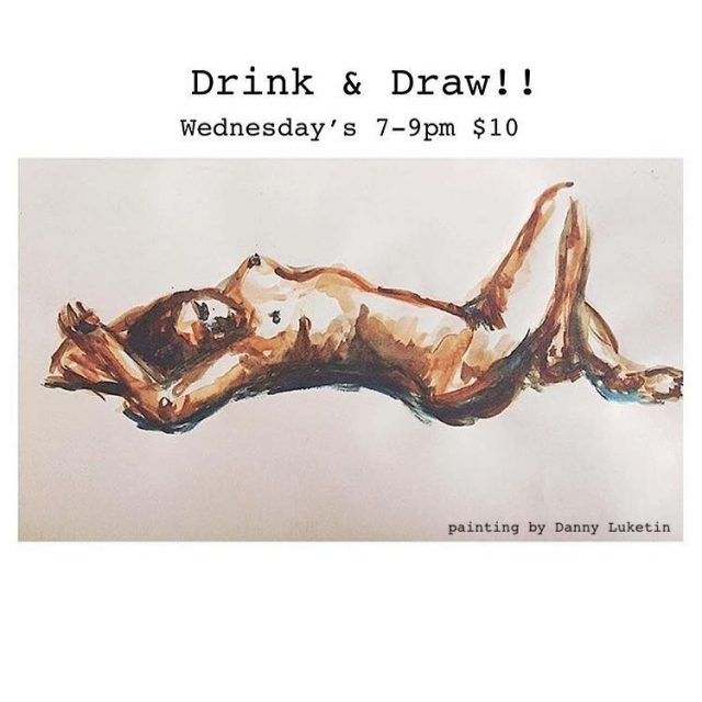 Drink & Draw Wednesdays @ The Living Gallery