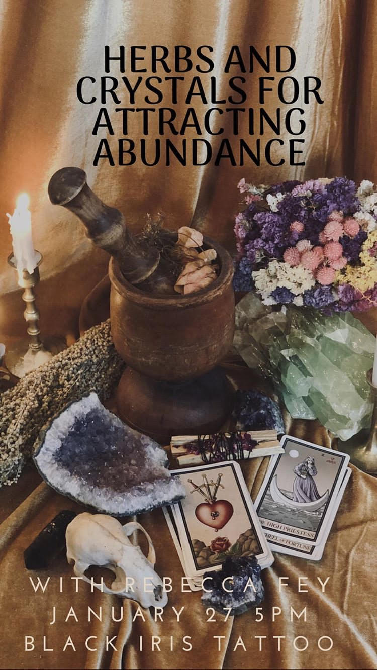 Herbs and Crystals for Attracting Abundance with Rebecca Fey - Brokelyn