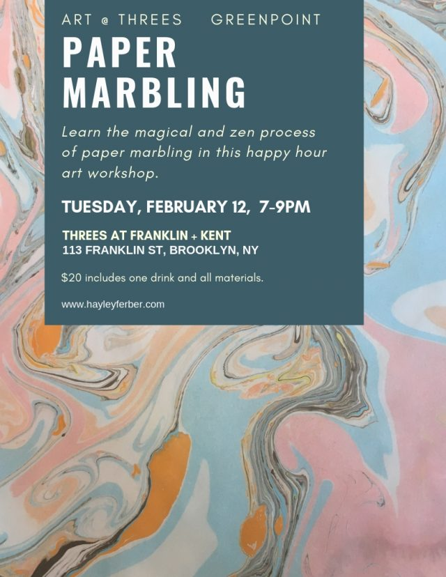 Art @ Threes: Paper Marbling