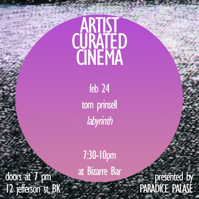 Artist Curated Cinema @ Bizarre Bar