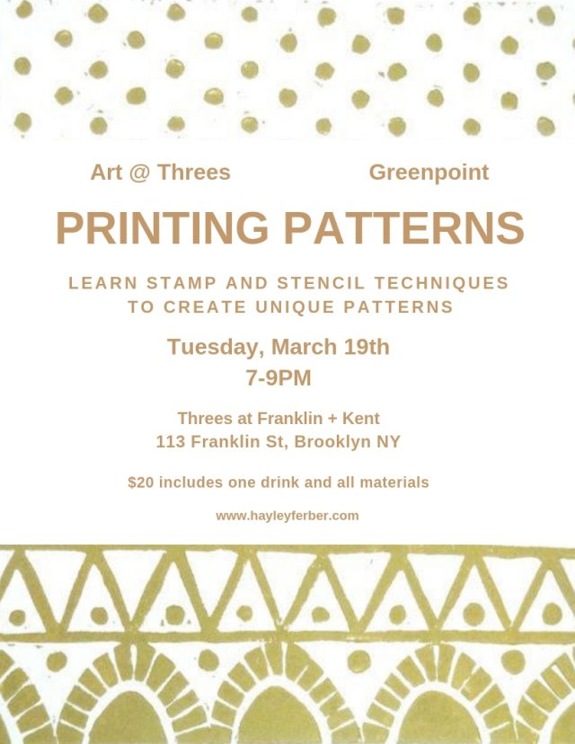 Art @ Threes: Printing Patterns
