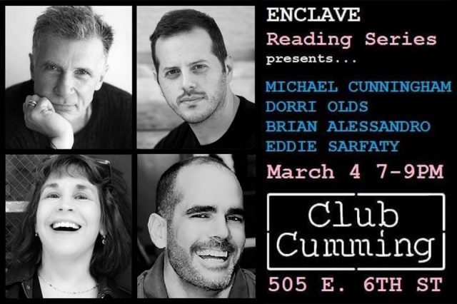 Enclave Reading Series presents Michael Cunningham, Brian Alessandro, Eddie Sarfaty, Dorri Olds