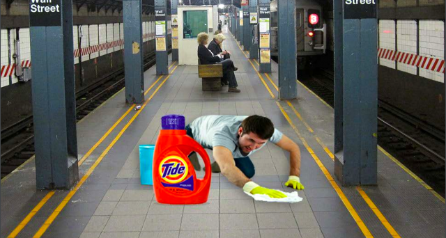 Cuomo Ridicules MTA for….Cleaning With Tide?