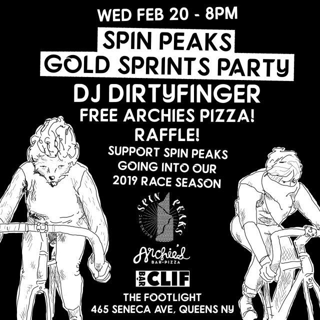 Spin Peaks Gold Sprints Fundraiser w/ DJ Dirtyfinger!