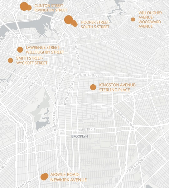 Brooklyn's most dangerous intersections mapped