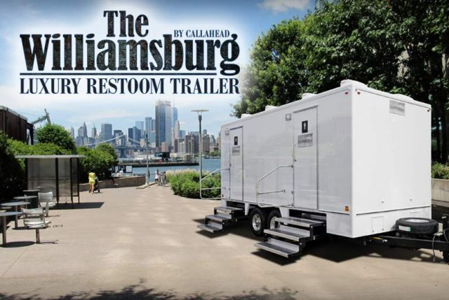 The 'Porta-Potty King of NY' brings luxury toilet trailers to Brooklyn