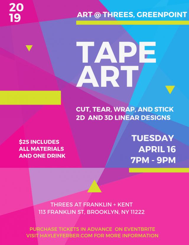 Art @ Threes: Tape Art
