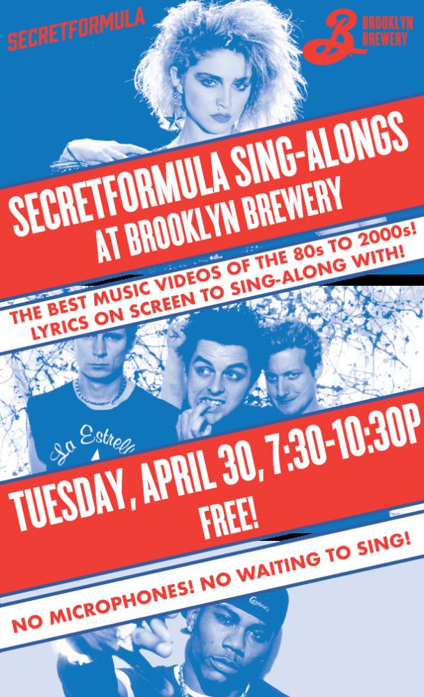 SecretFormula Sing-Alongs at The Brooklyn Brewery