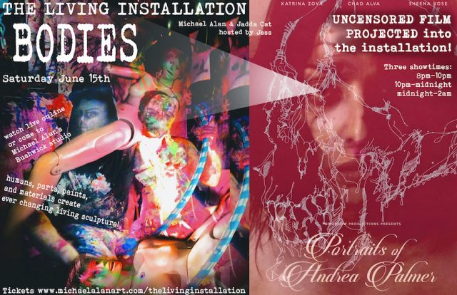 """BODIES! with screening """"PORTRAITS OF ANDREA PALMER"""""""