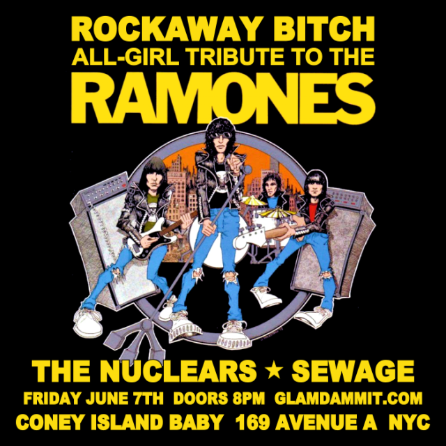 Glamdammit : Rockaway Bitch, The Nuclears, Sewage