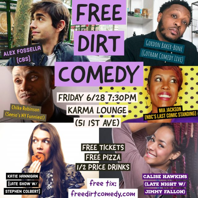 Free Dirt Comedy – Free Comedy, Free Pizza, Half-Price Drinks