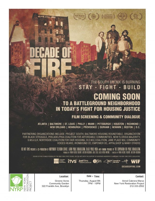 Documentary Screening and Discussion: Decade of Fire