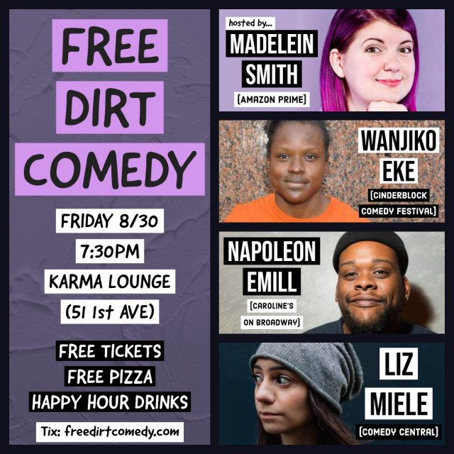 Free Dirt Comedy – Free Comedy, Free Pizza