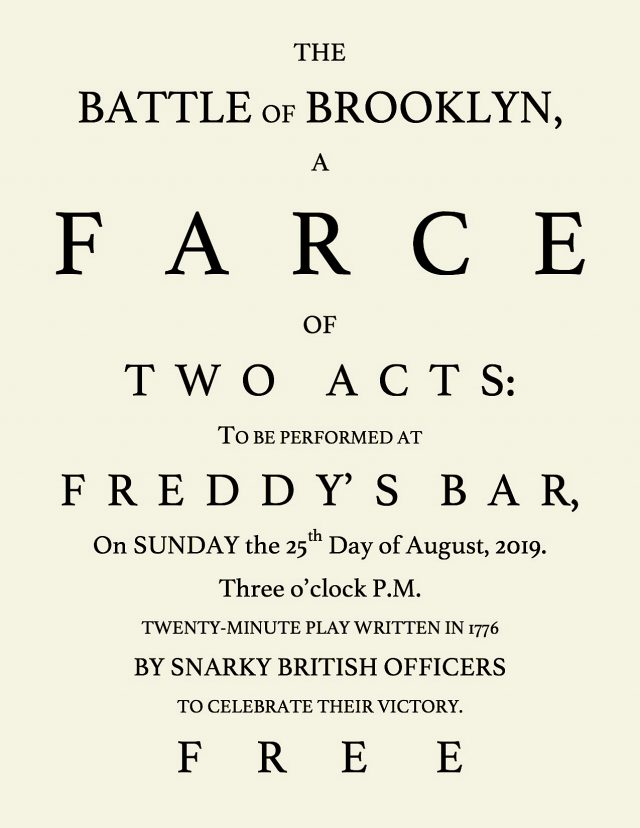 """The Battle of Brooklyn, A Farce of Two Acts"""
