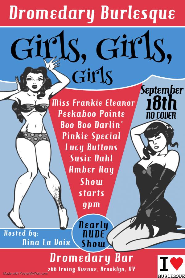 Dromedary Burlesque Wednesday September 18th