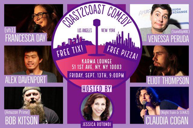 Coast2Coast Comedy! Free Comedy & Pizza!