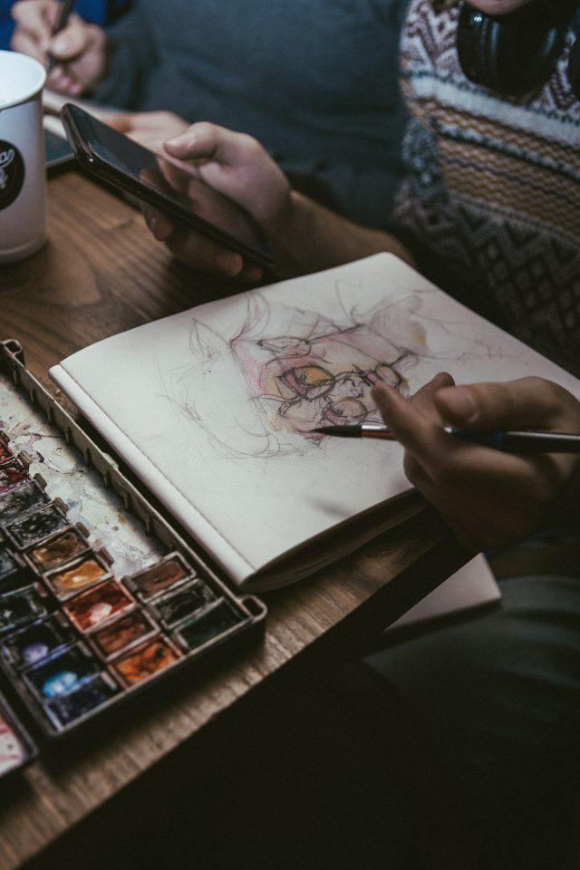 Watercolor Portraits at Classeteria