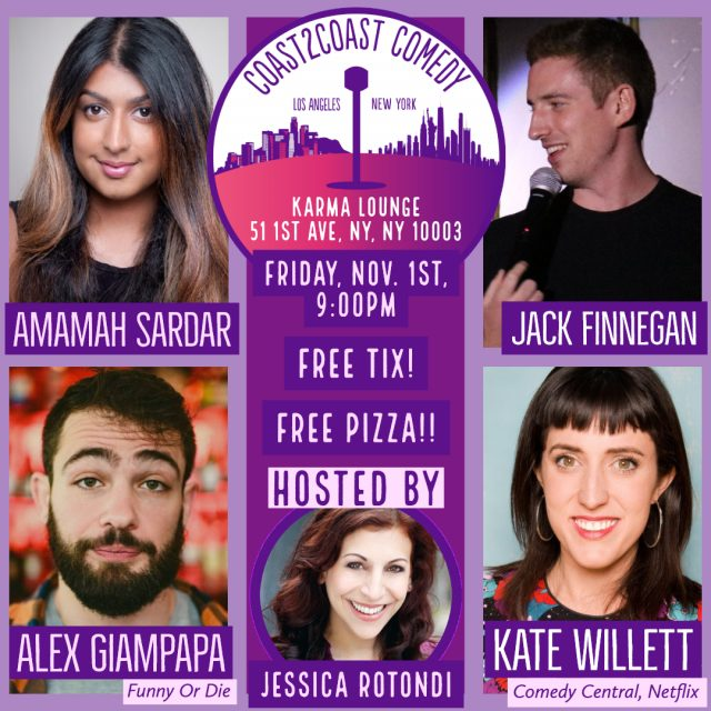 Coast 2 Coast Comedy! Free! Comics from Netflix, Comedy Central, and Funny Or Die!