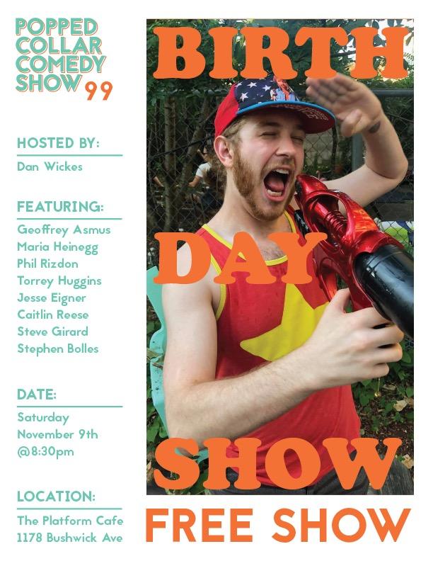 Popped Collar Comedy (FREE show in Bushwick, Brooklyn)