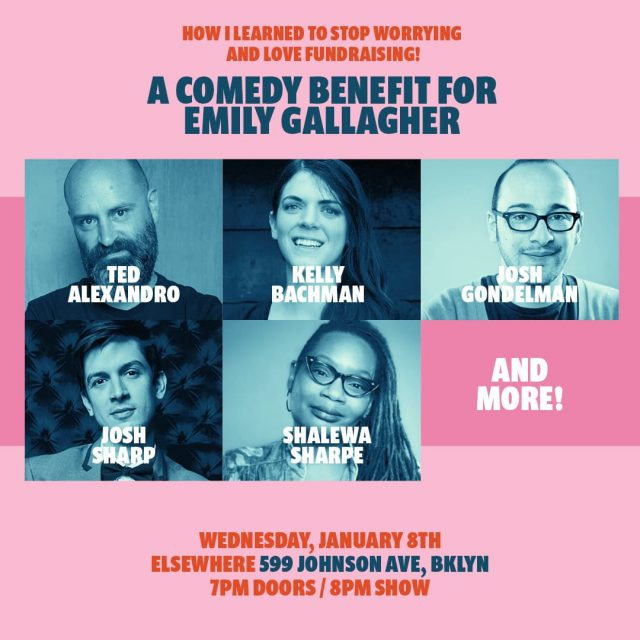 How I Learned to Stop Worrying and Love Fundraising: A Comedy Benefit for Emily Gallagher