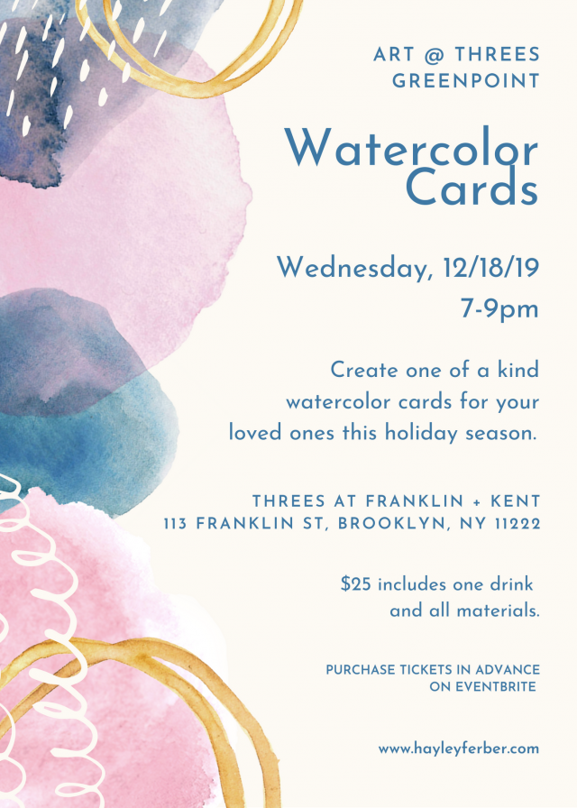 Art @ Threes: Watercolor cards