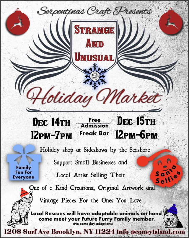 Strange and Unusual Holiday Market