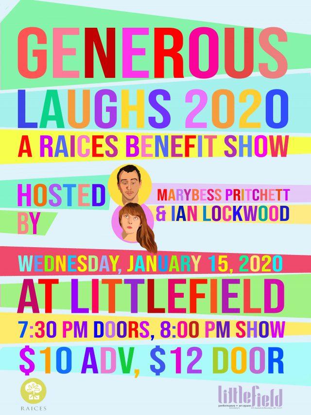 Generous Laughs 2020 : A RAICES Benefit Show