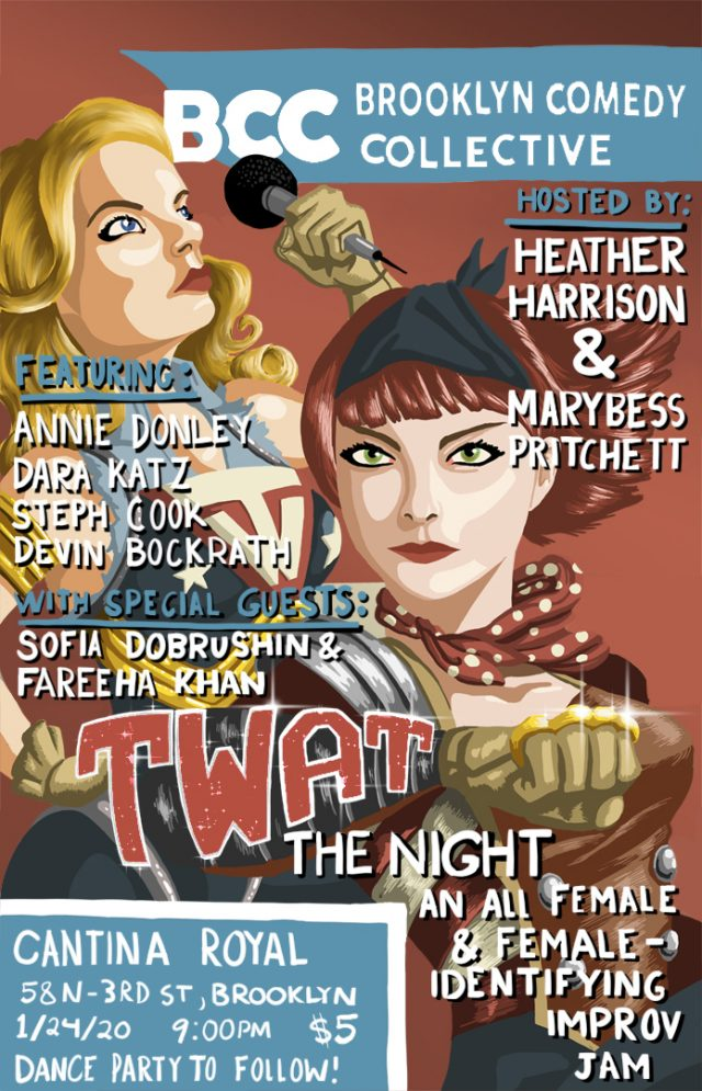 TWAT the Night : An All Female & Female-Identifying Improv Jam and Dance Party